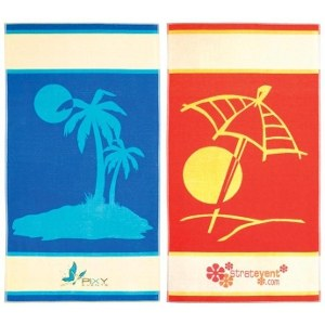 stock design beach towels embroidered with your logo